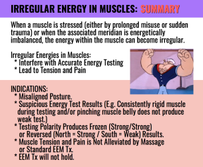 IRREGULAR ENERGY IN MUSCLES GENERAL INFO