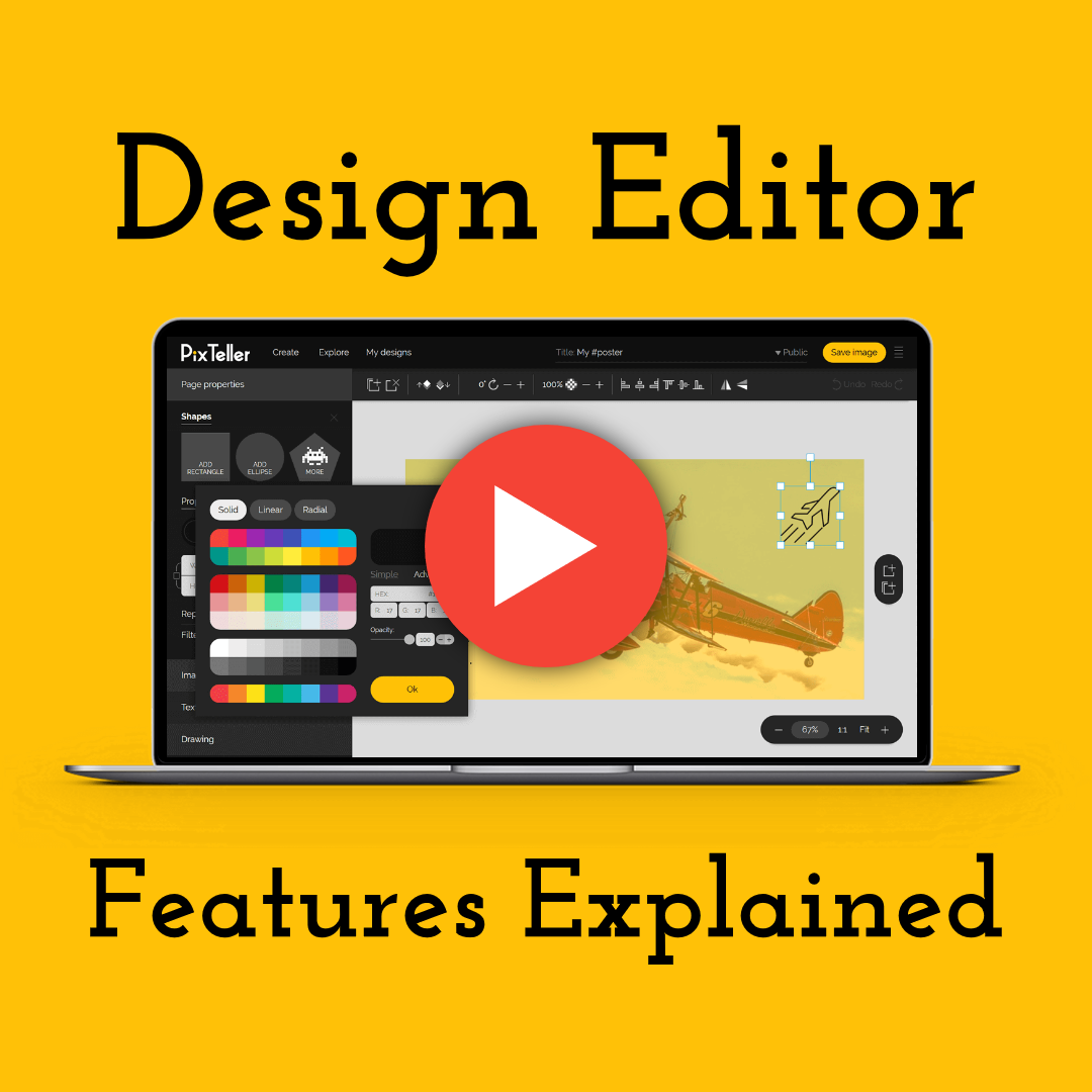 PixTeller Editor Features Explained Design  Template