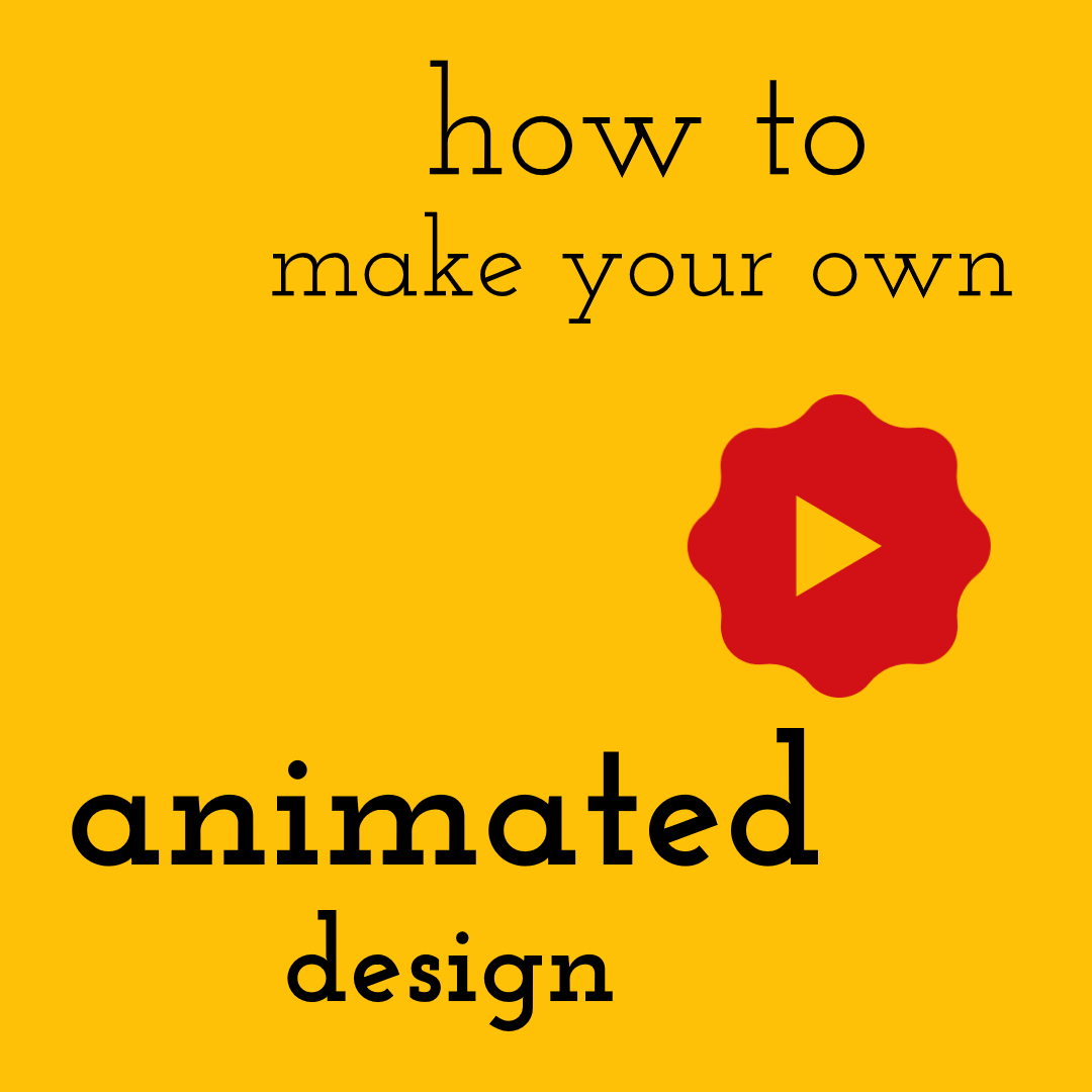 How to Make Your Own Animated Design Animation  Template