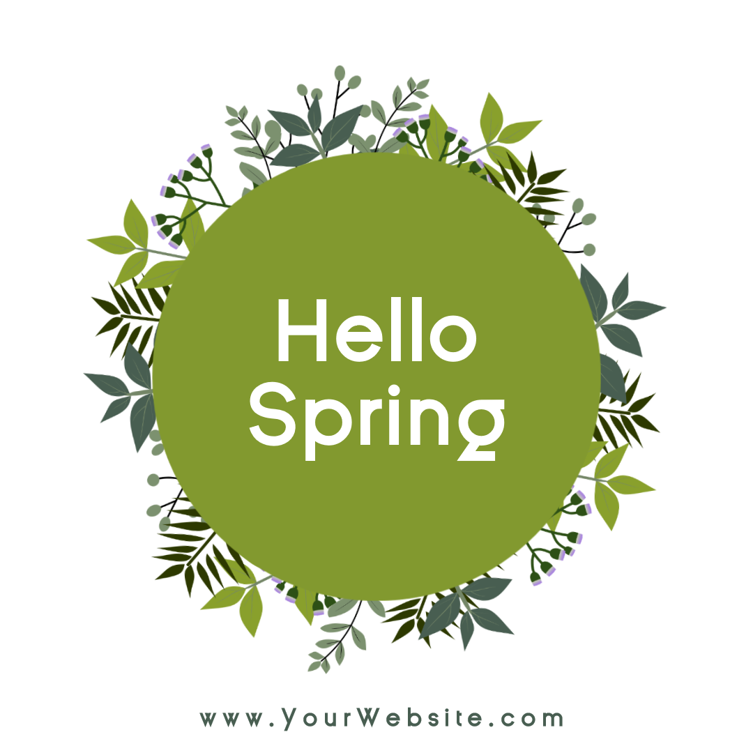 Hello spring social media post - Animation  Template