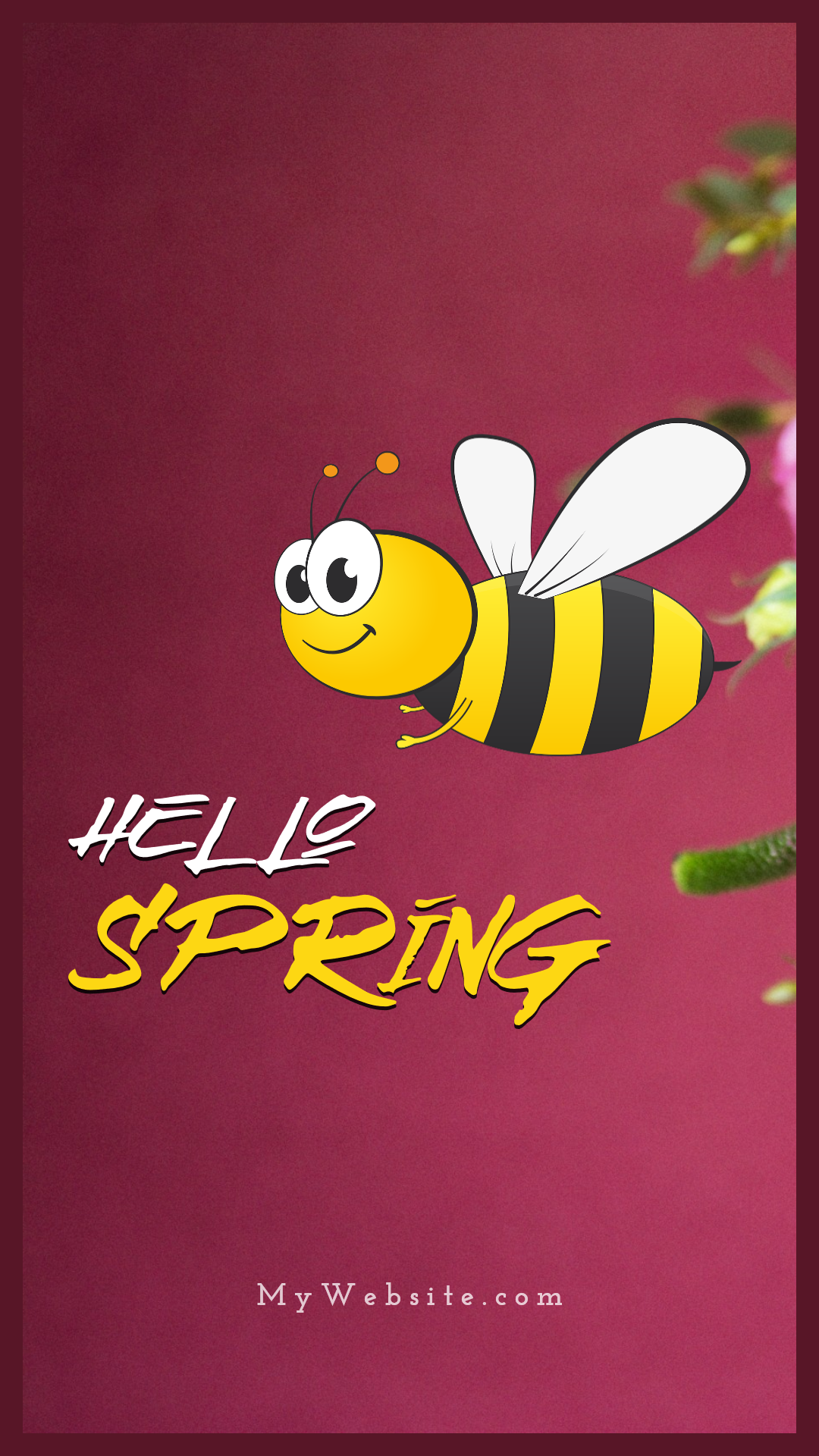 Spring Arrival Visual Animation  Template