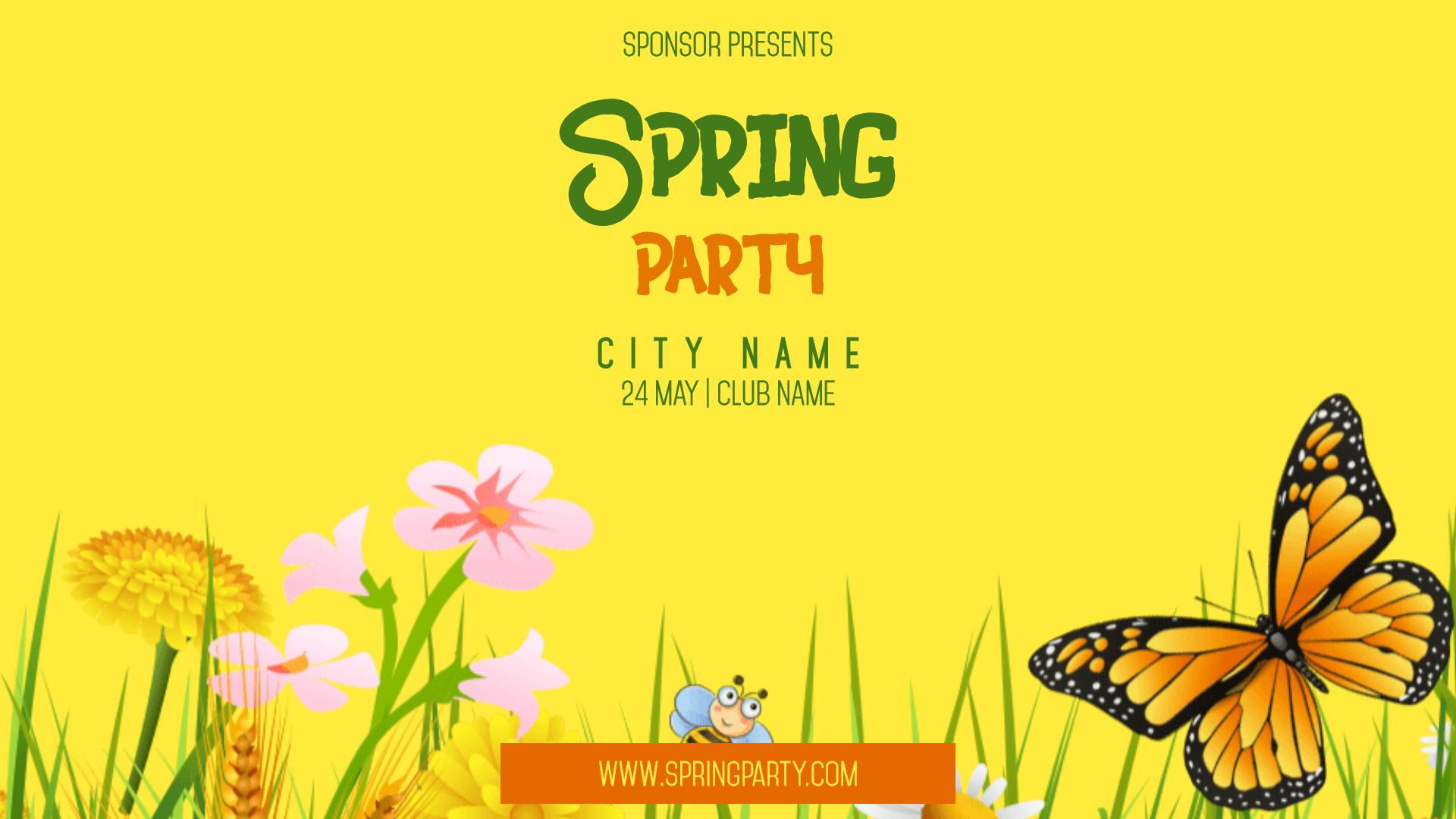 Spring Party #invitation #event Design  Template