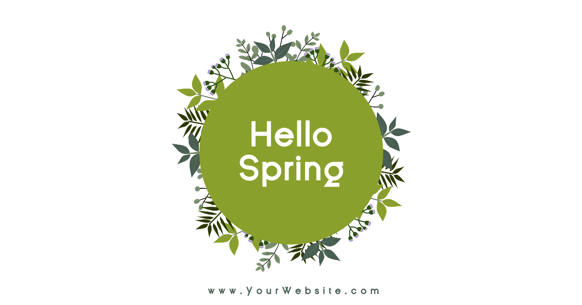 Hello spring social media post - Design  Template