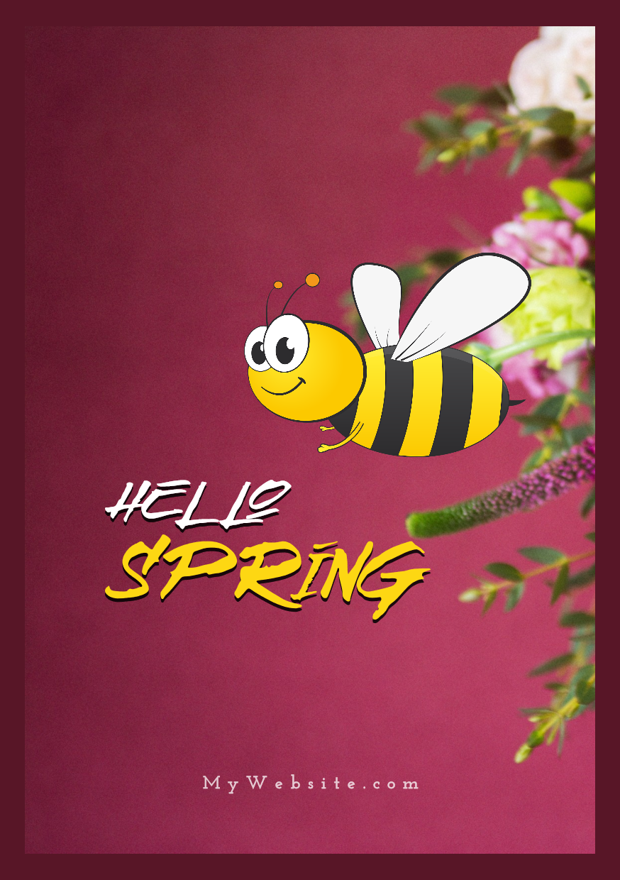 Spring Arrival Visual Design  Template