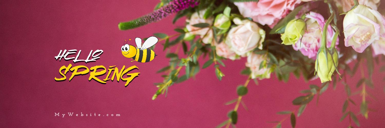 Spring Arrival Visual Design  Template