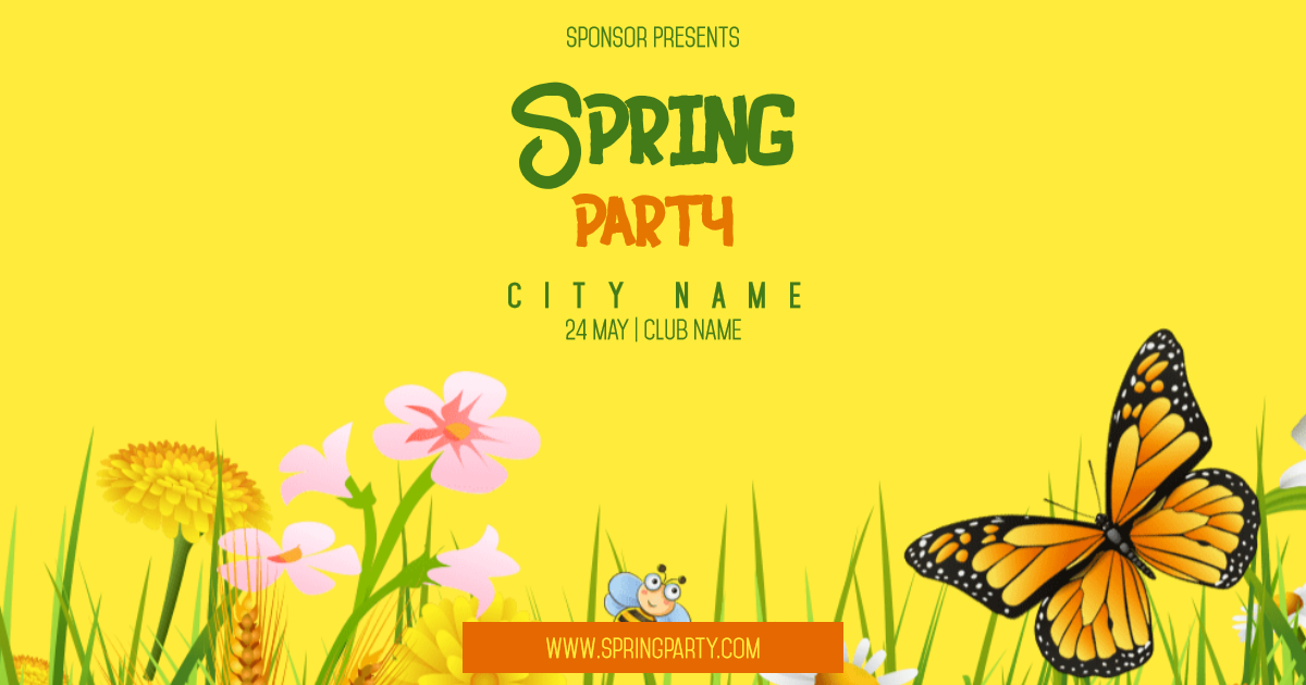 Spring Party #invitation #event Design  Template