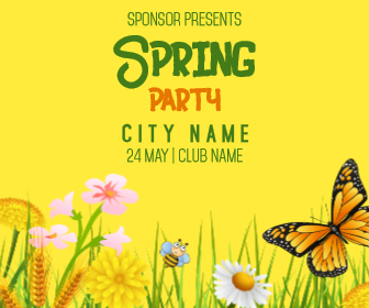 Spring Party #invitation #event Animation  Template