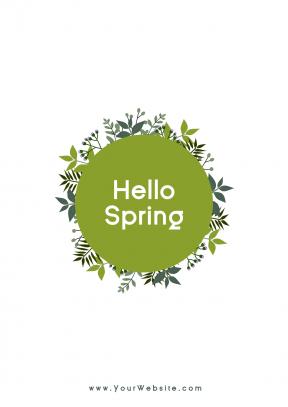 Hello spring social media post - #spring