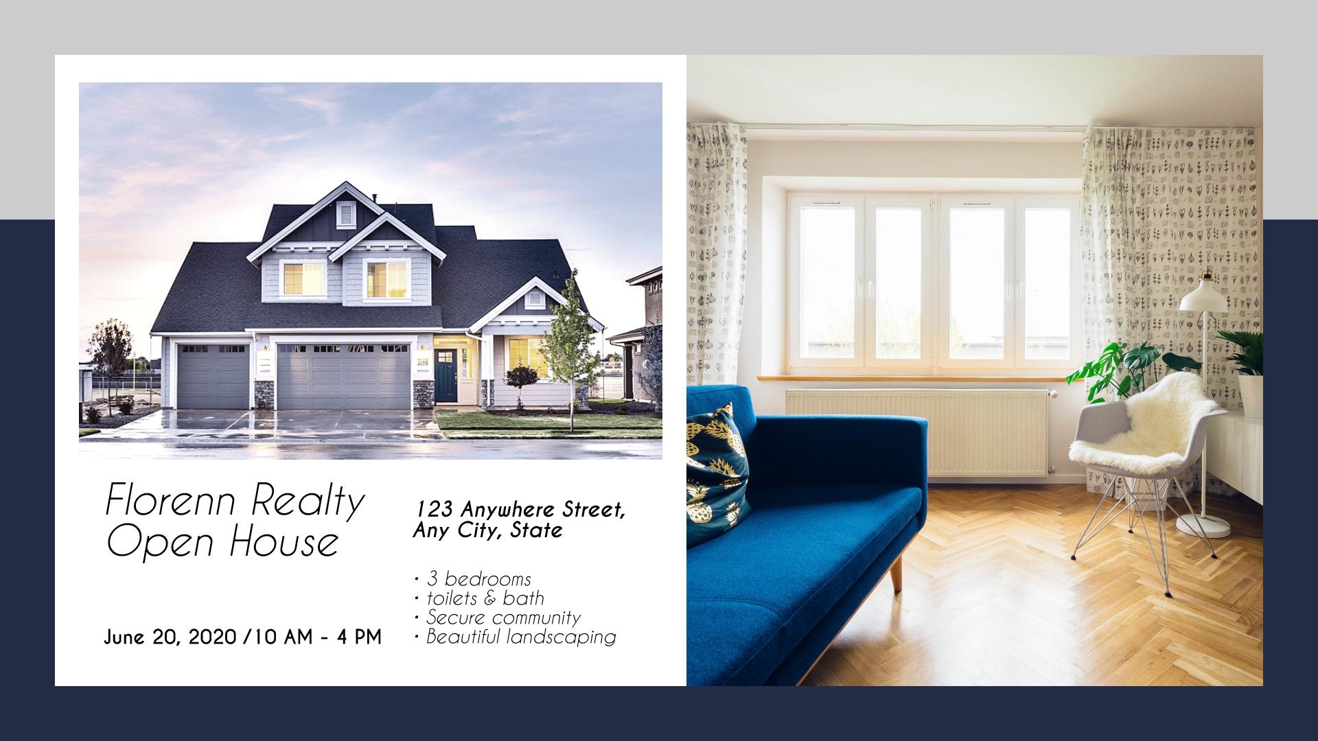Real estate sale design template - Animation  Template