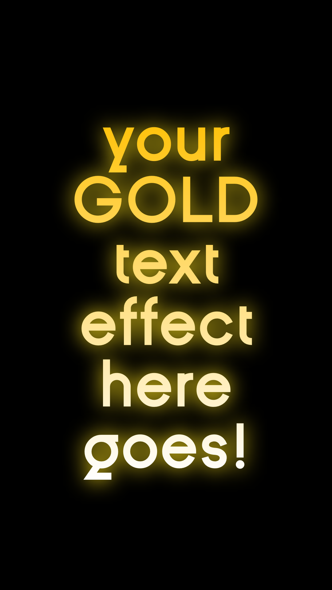 Gold Text Animated :P Design  Template