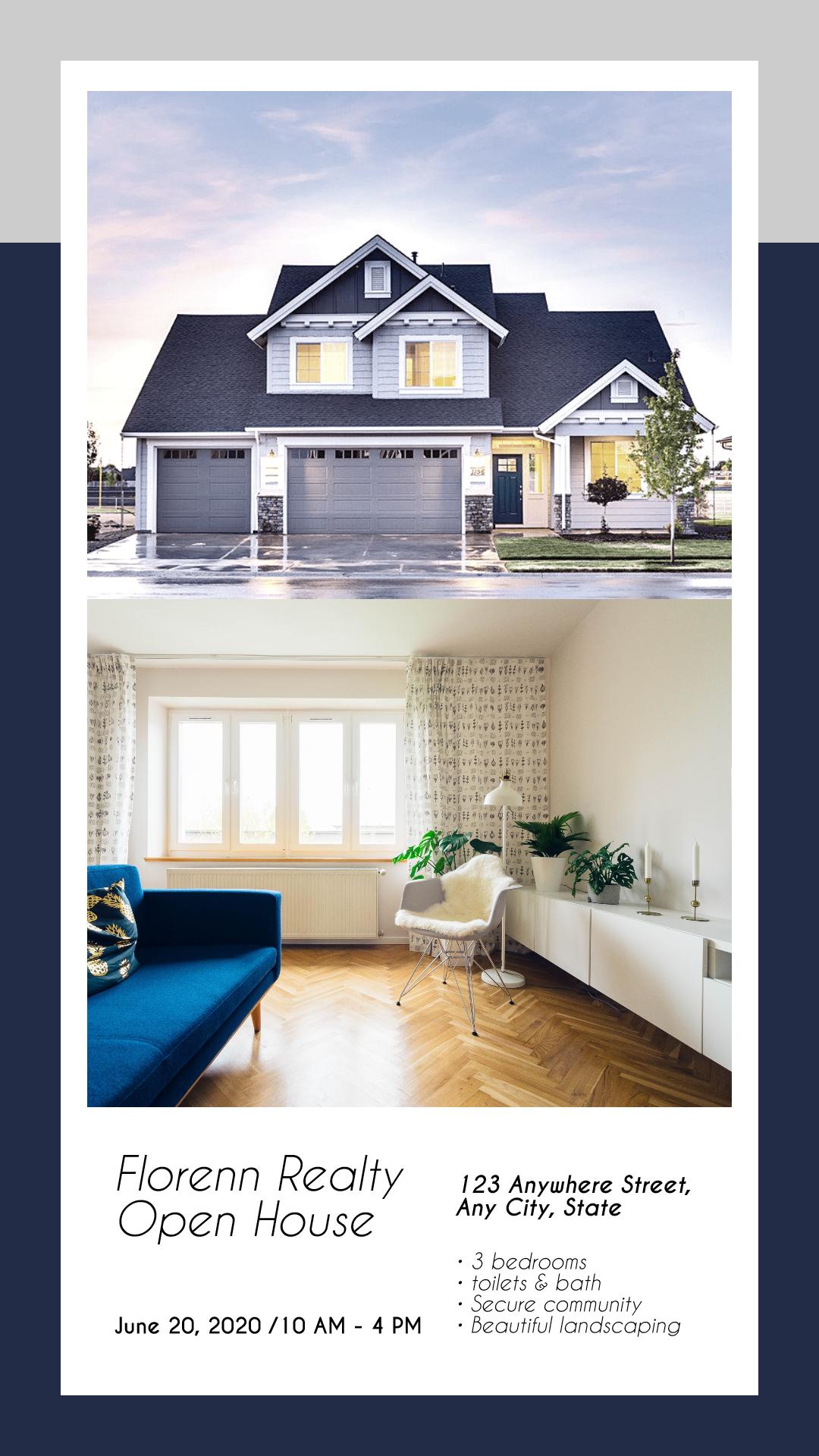 Real estate sale design template - Design  Template
