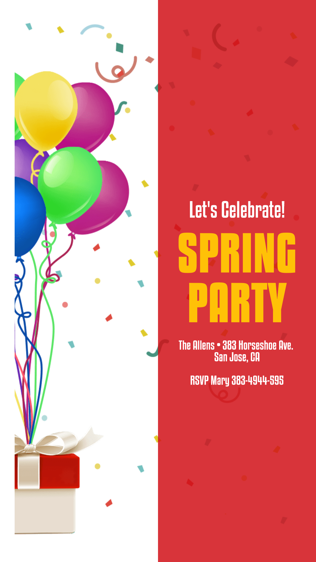 Spring Party Anniversay Invitation Animation  Template