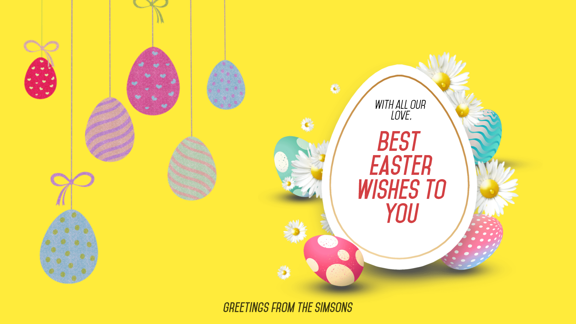 Happy Easter Design Template - Animation  Template