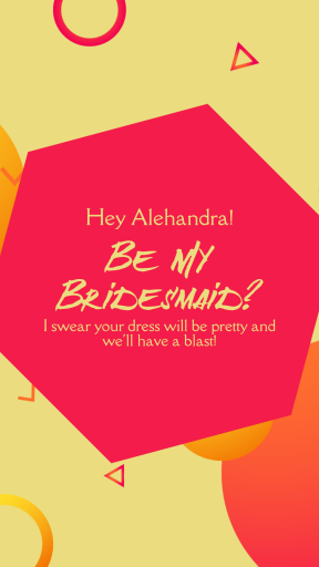 Anniversary Design - Be My Bridesmaid - #anniversary