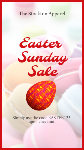 Anniversary Design Template with an Easter Egg Red -  #sale #anniversary #easter