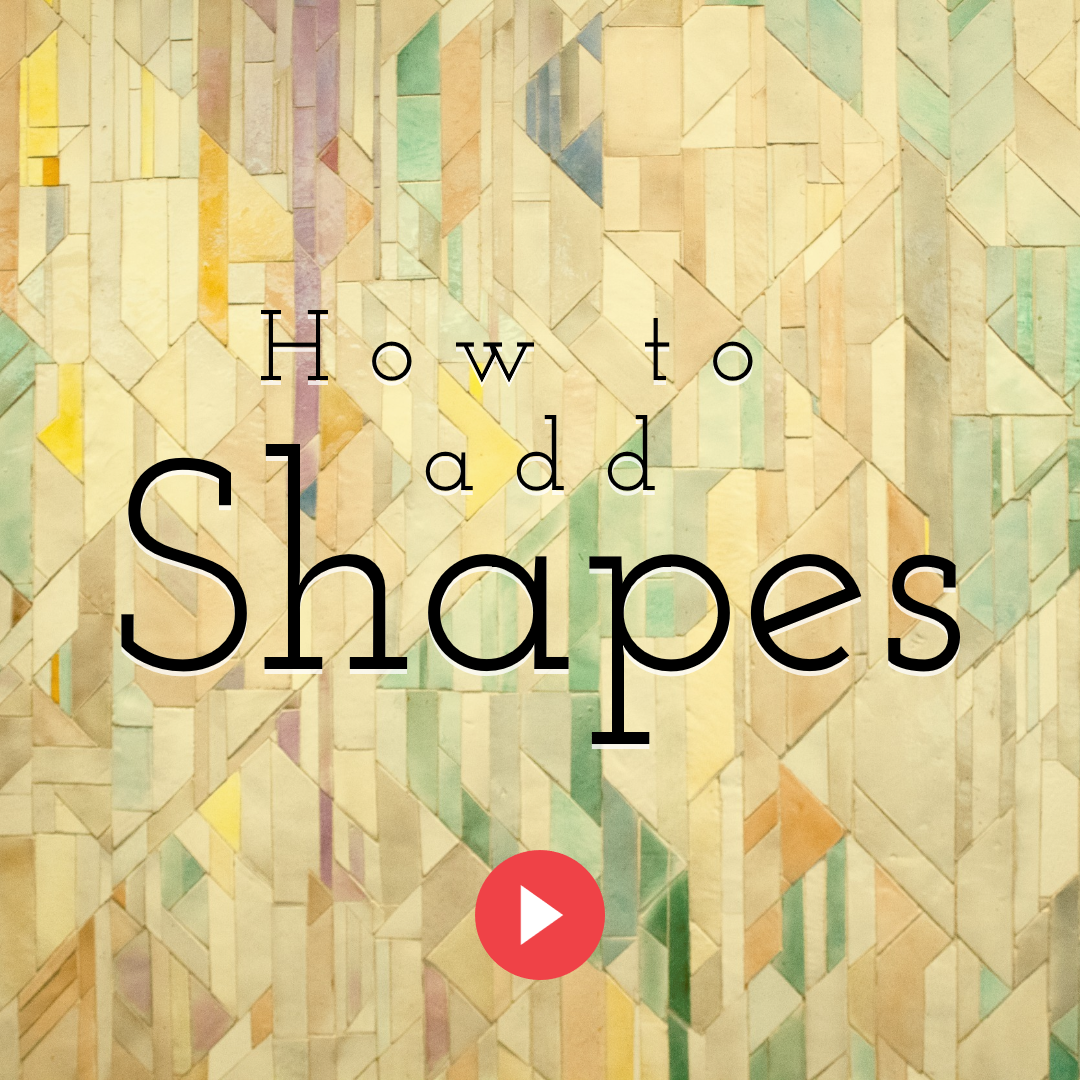 How to Add Shapes