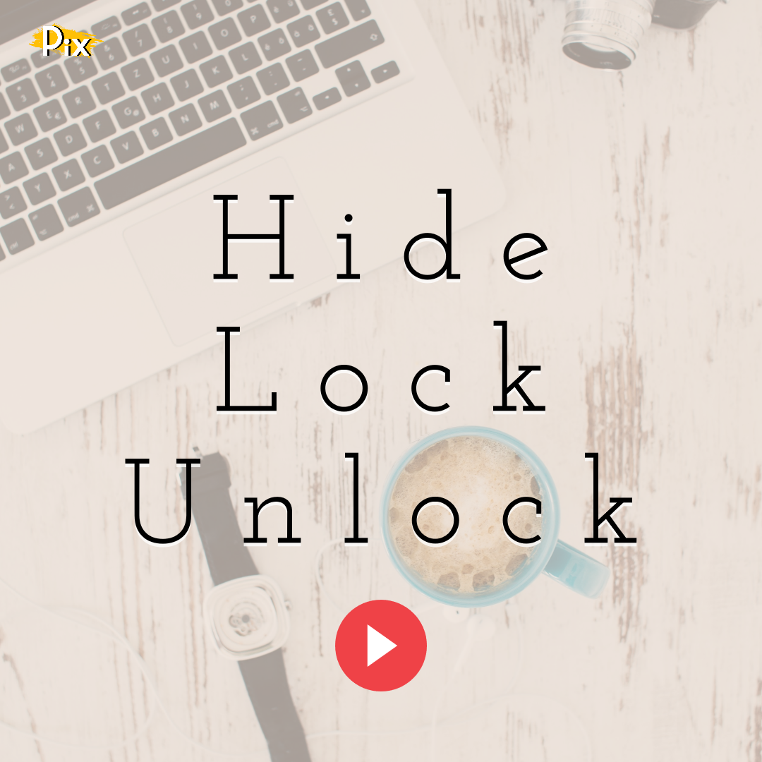 How to Hide, Lock and Unlock the Elements From a PixTeller Design