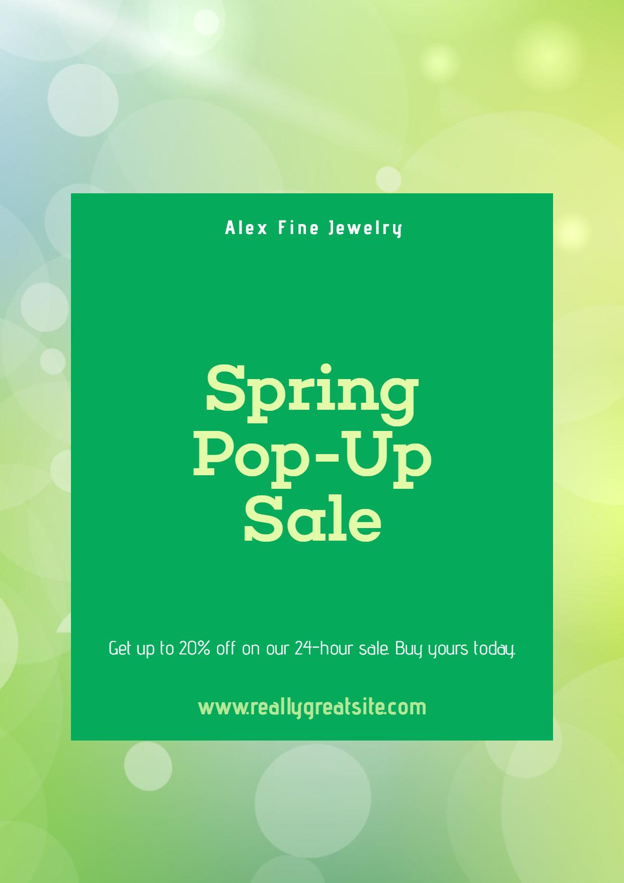 Spring Sale Post - #Sales #Business Design  Template