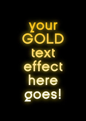 Gold Text Animated :P