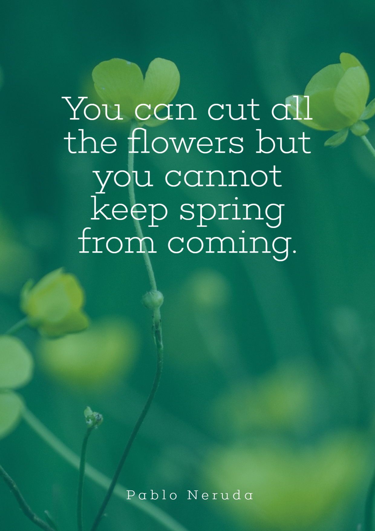 Spring Simple Quote Design - #quote Design  Template