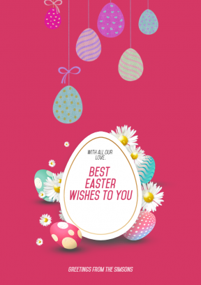 Happy Easter Design Template - #easter #anniversary
