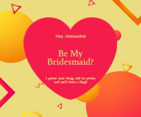 Anniversary Design - Be My Bridesmaid - #anniversary