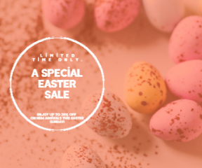 Sale Happy Easter Design Template - #invitation #sales #easter #anniversary