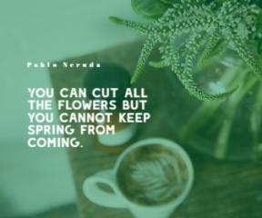 Spring Simple Quote Design - #quote #wording