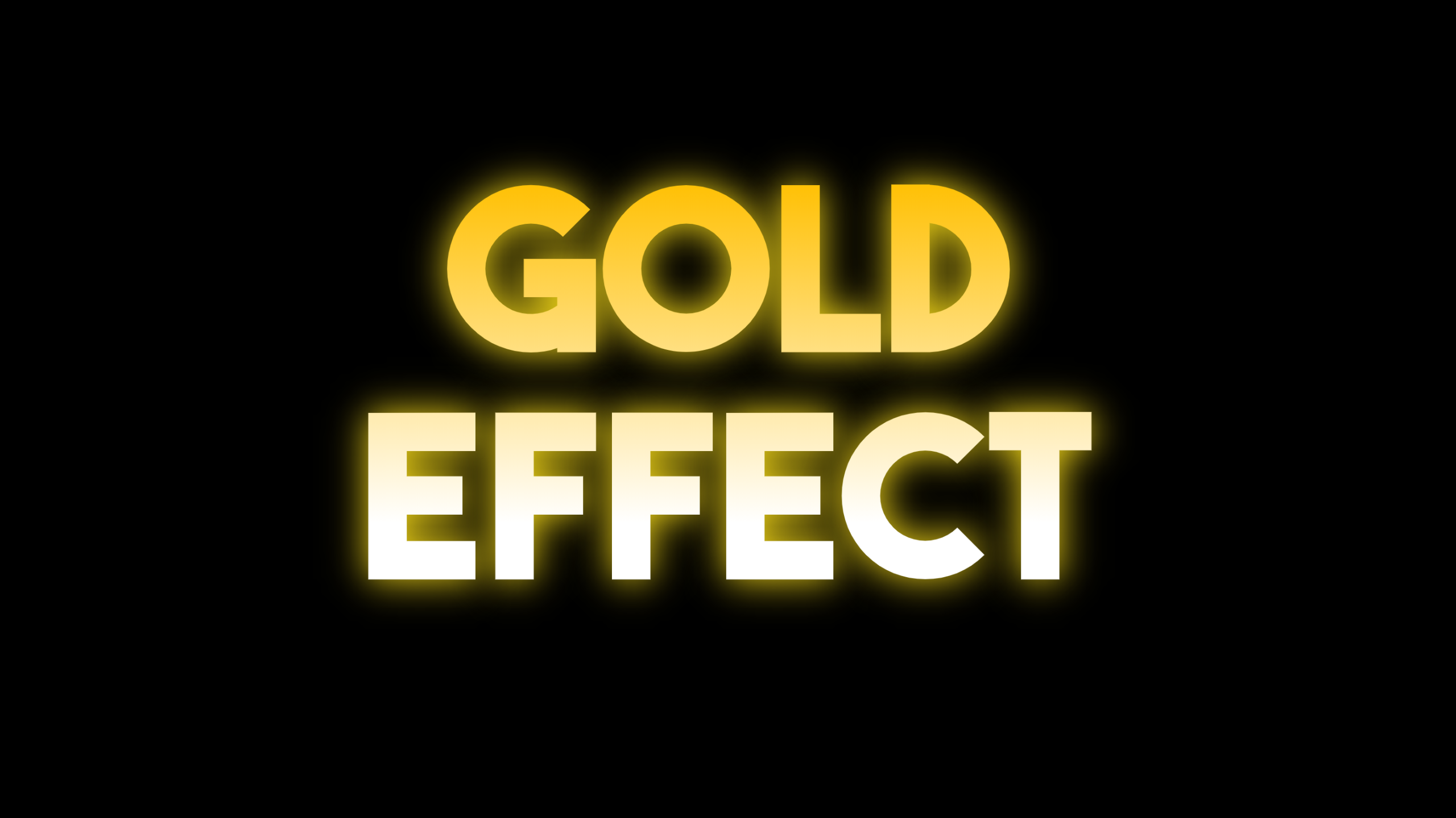 Gold Text Effect Design  Template