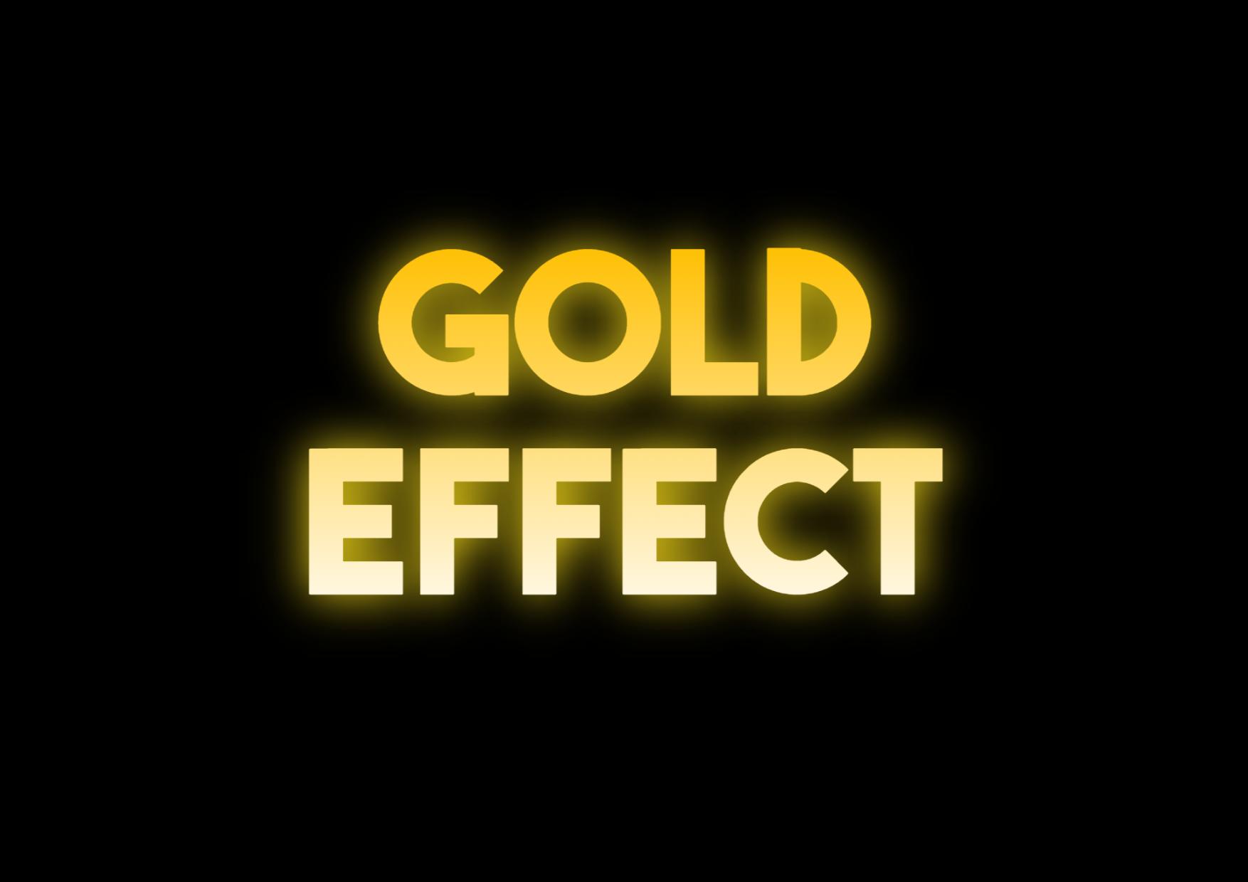 Gold Text Effect Design  Template
