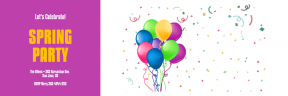 Spring Party Anniversay Invitation Template - #invitation #anniversary