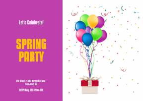 Spring Party Anniversay Invitation Template - #invitation #anniversary