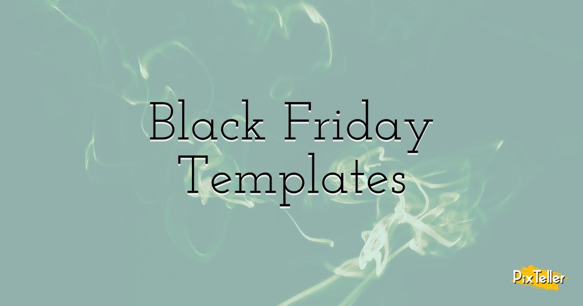 Black Friday Templates Design  Template