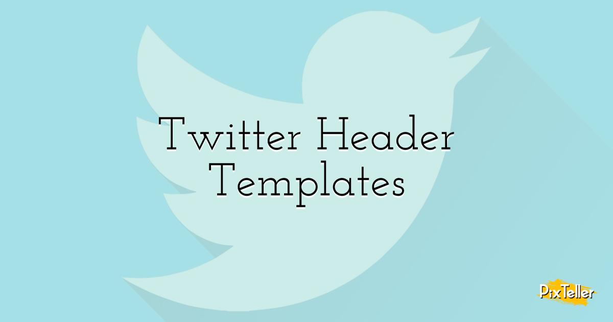 Twitter Header Templates Design  Template