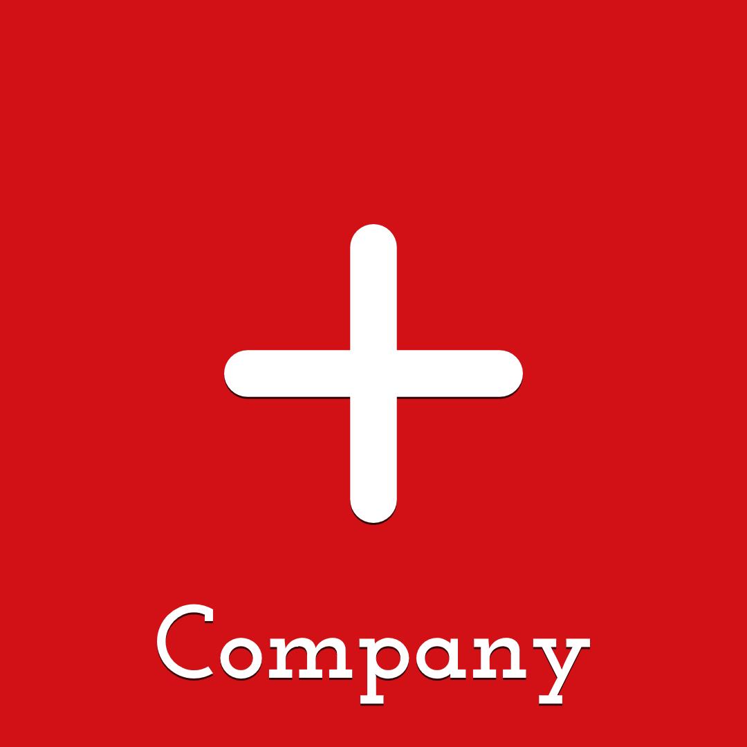 Plus Red Logo Design  Template