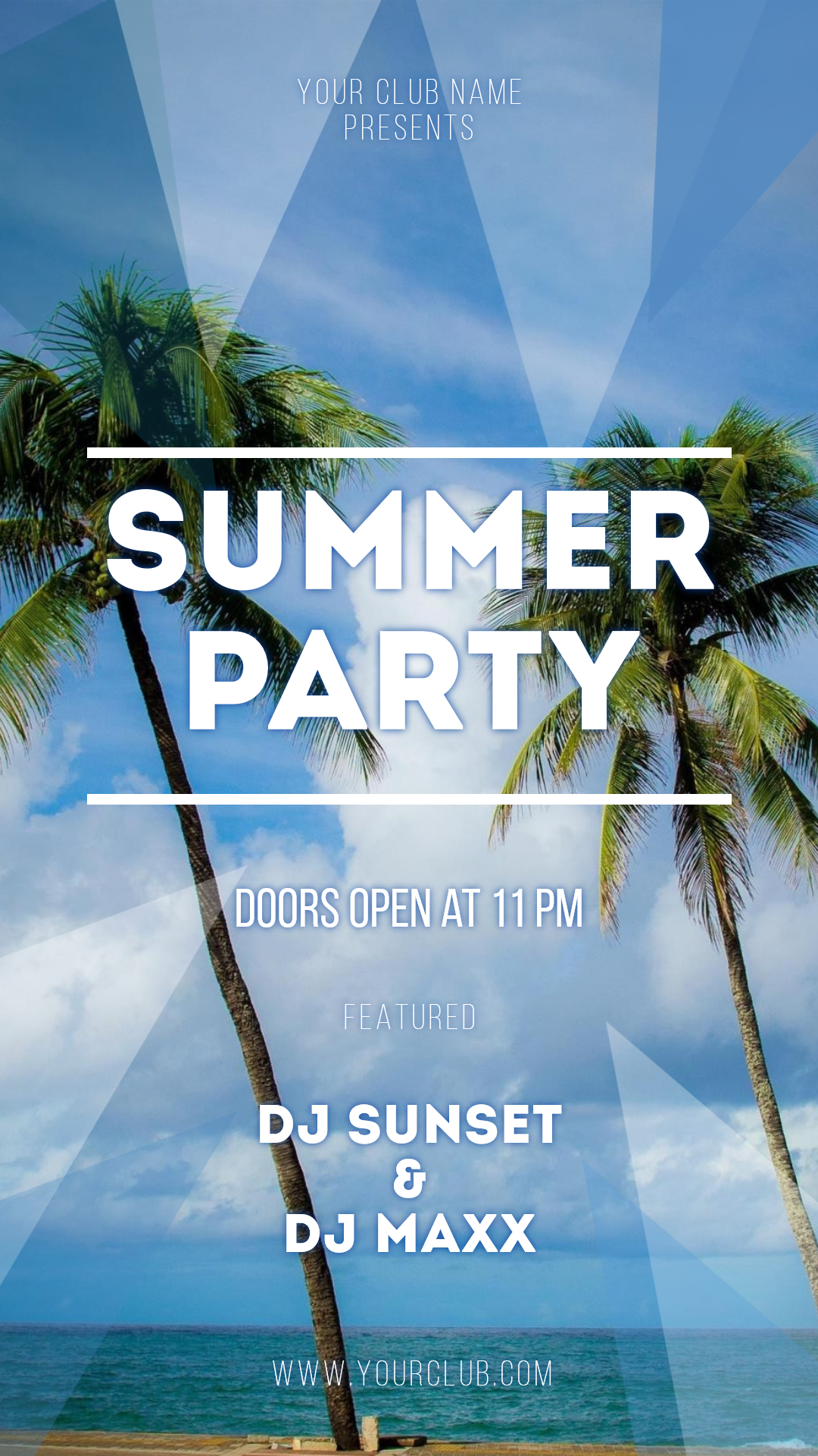 Summer party #invitation #poster Design  Template