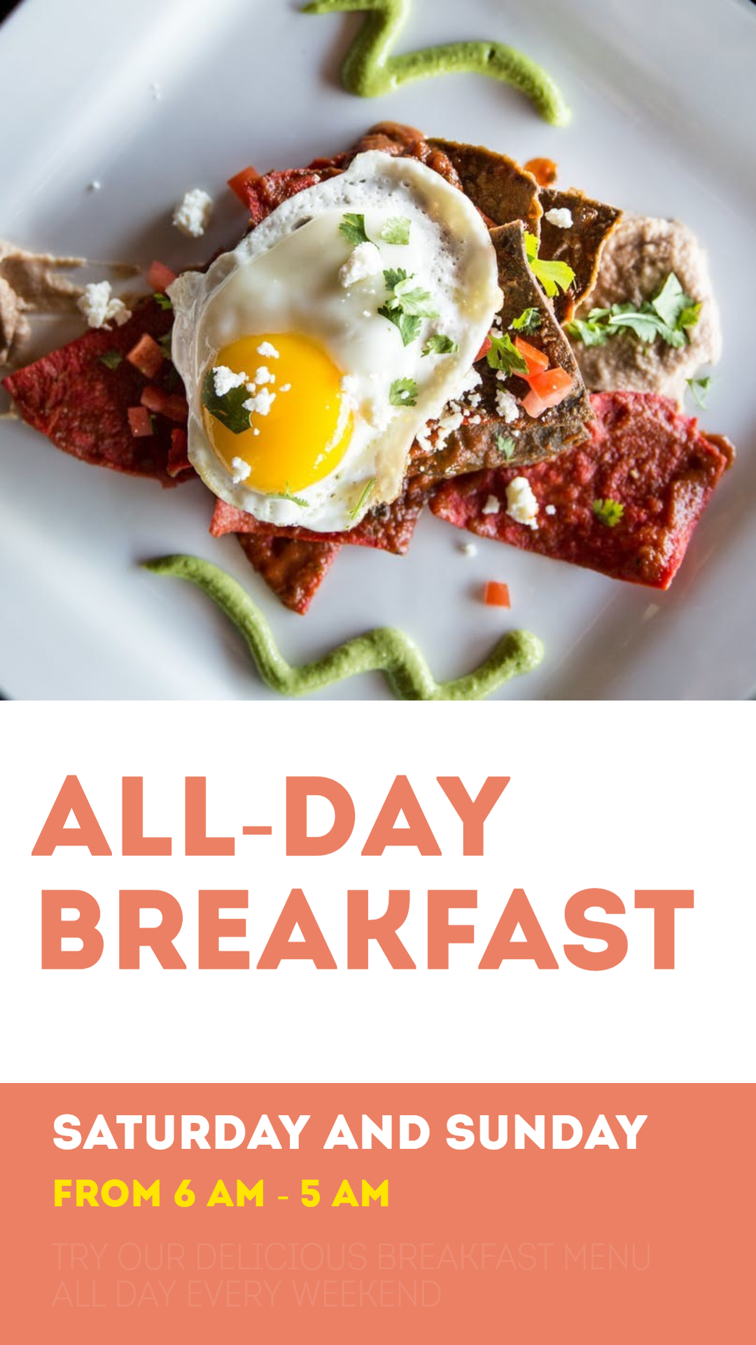 All day breakfast #business Animation  Template