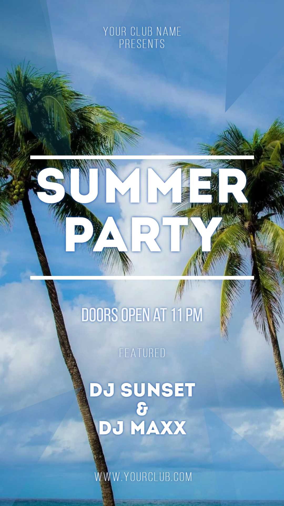 Summer party #invitation #poster Animation  Template