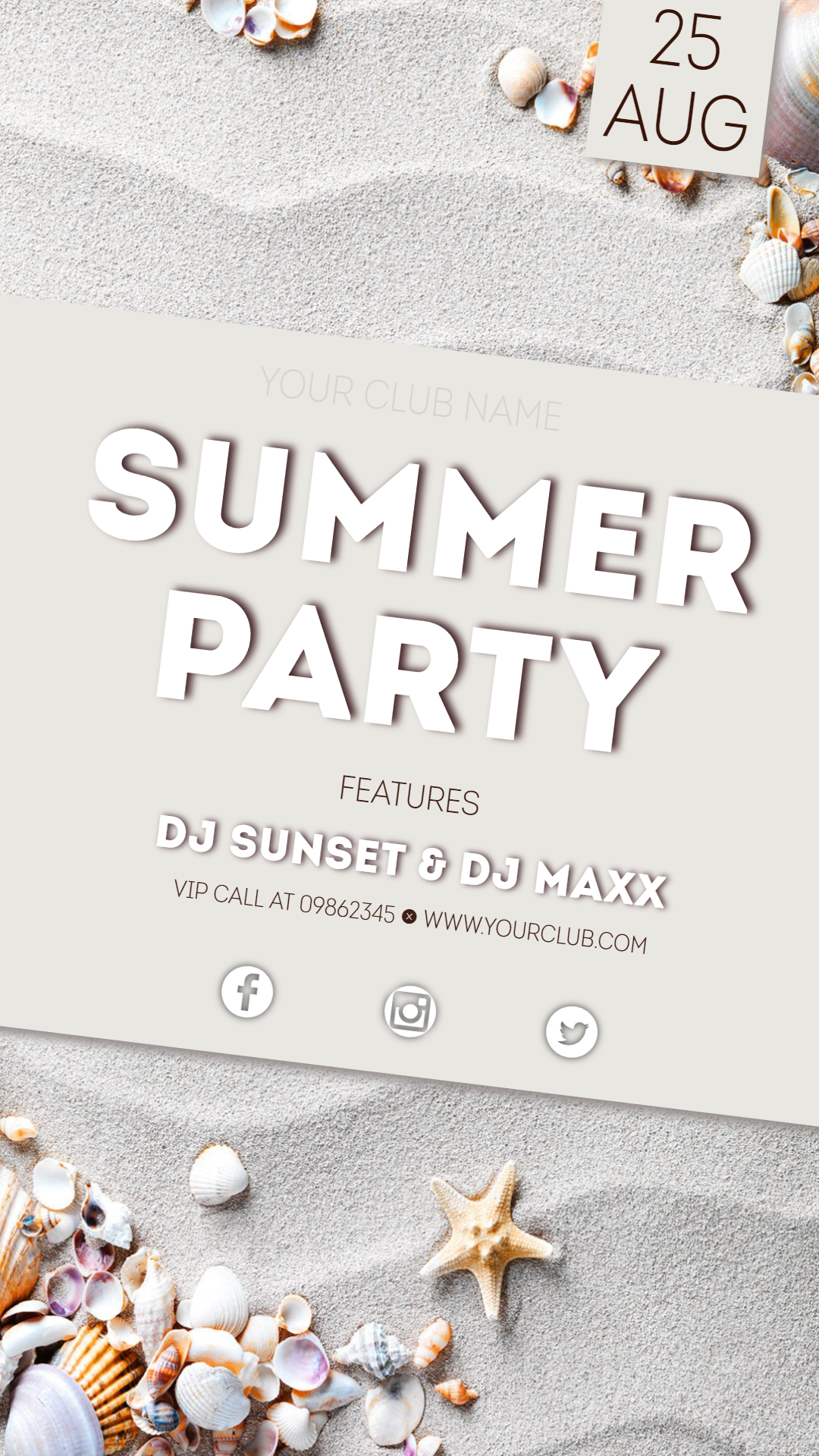 summer party #invitation #summer Animation  Template