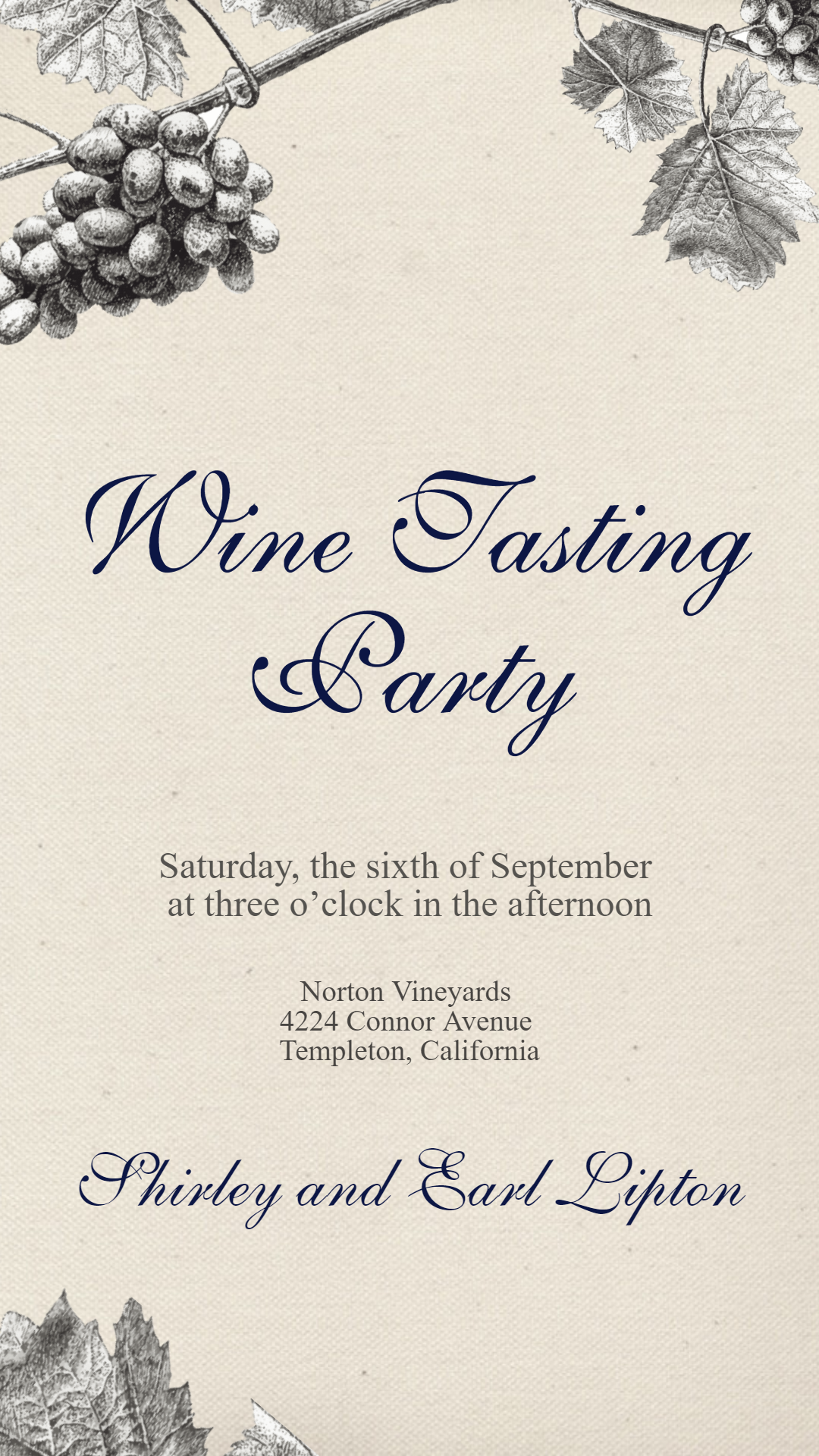 Wine Tasting Party #invitation Animation  Template