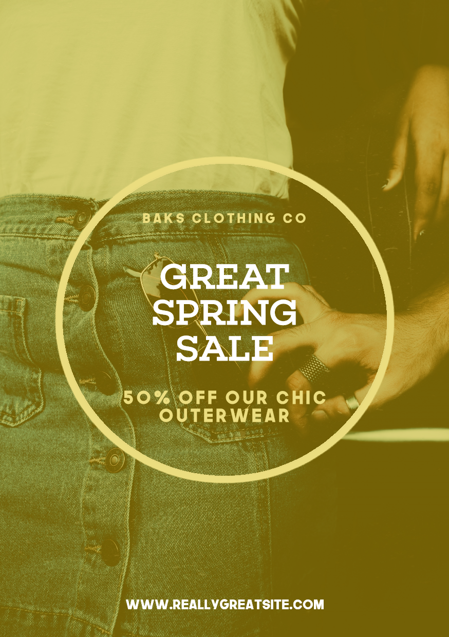 Spring Sale Post - #Sales #Business Design  Template