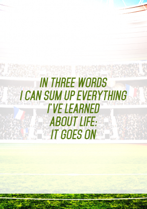 Print Quote Design - #Wording #Saying #Quote #stadium #sport #football #baseball #specific #soccer #structure #player #atmosphere