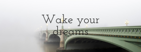 Wording Cover Layout - #Saying #Quote #Wording #fixed #beam #mist #arch #haze #fog #sky #bridge #link