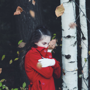 Photo Overlay Design - #PhotoOverlay #PhotoFilter #Photography #plant #girl #winter #red #AutumnLeaves #OverlayImage