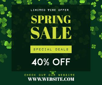 Spring Sale - Limited time offer Design  Template