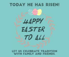 Anniversary Template for Happy Easter -  #anniversary #easter