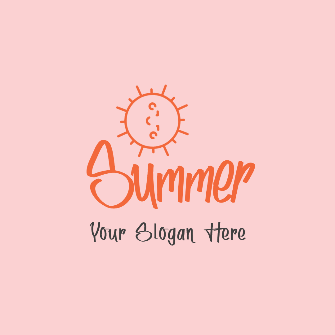 Summer logo design template - #Logo Animation  Template