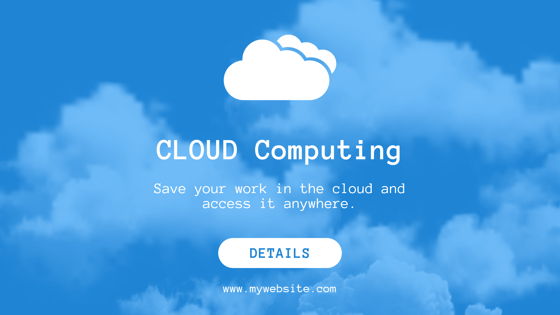 Cloud-Based Software Ad Design  Template