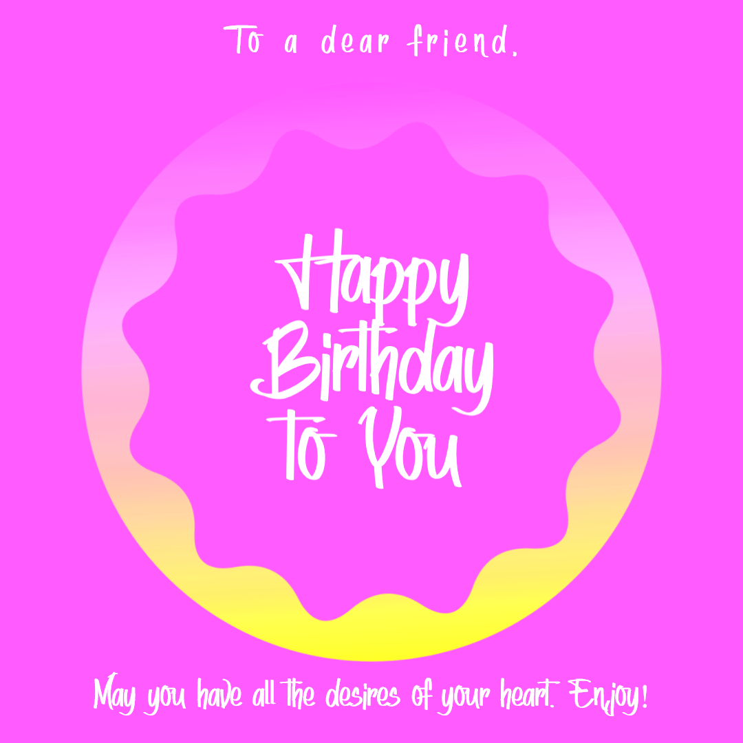 Happy Birthday Graphic for Animation  Template