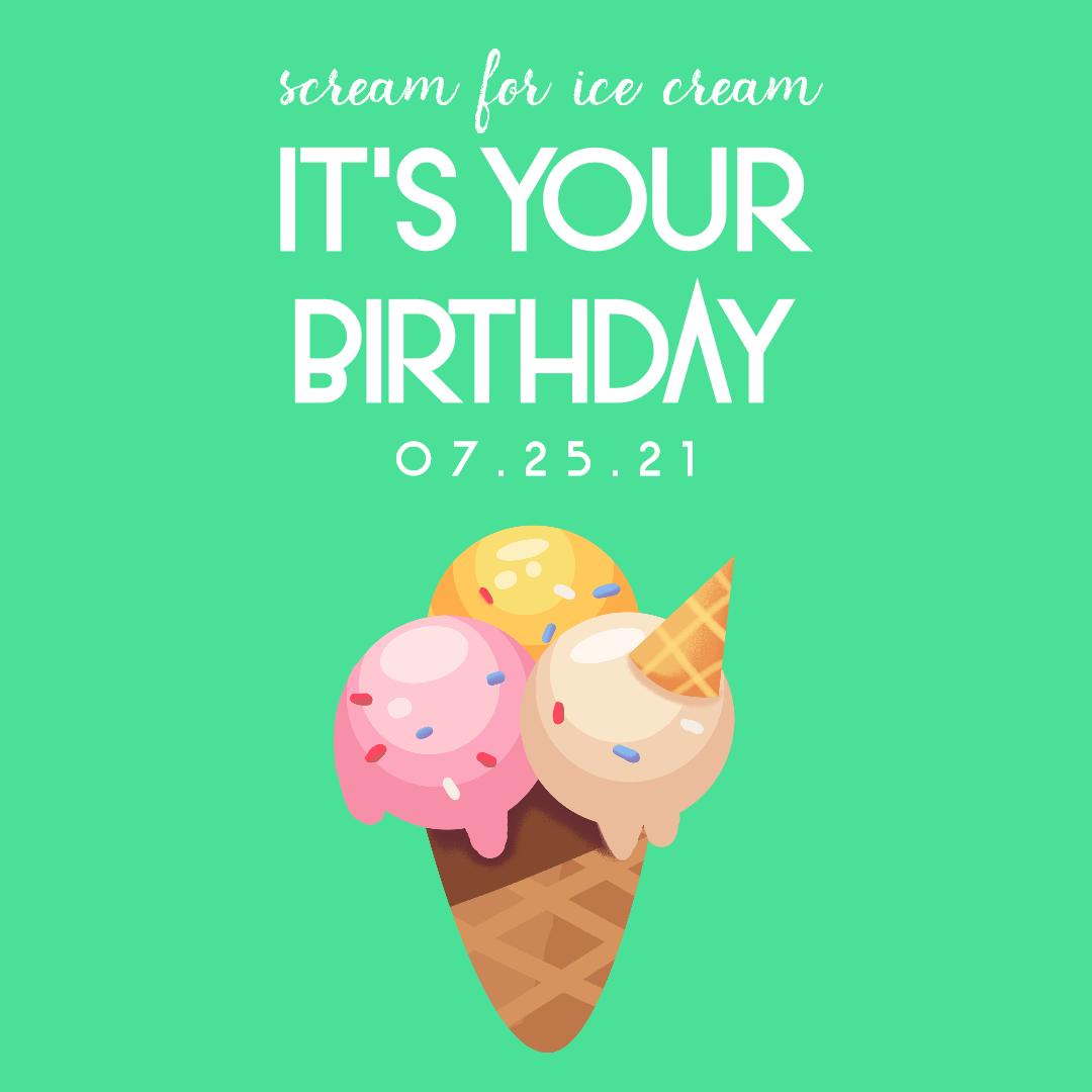 Scream for Ice Cream 0 Editable Animation  Template